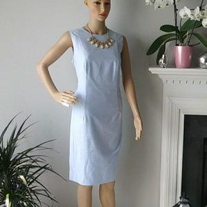 """Brooks Brothers """"346"""" blue office dress midi"""